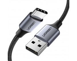 Cablu Date Incarcare Ugreen Usb La Usb Type- C Compatibil Cu Dispozitive Cu Mufa Type-C, Quick Charge 3.0, 3A, 1M, Gri -60126