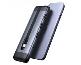 Hub Multifunctional Ugreen Type - C, USB Typ C - HDMI / 3x USB 3.2 Gen 1 / USB Typ C Power Delivery 100 W 20 V 5 A , Gri - CM285