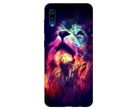Husa Silicon Soft Upzz Print Compatibila Cu Samsung Galaxy A20  Model Neon Lion