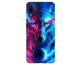 Husa Silicon Soft Upzz Print Compatibila Cu Samsung Galaxy A20  Model Wolf