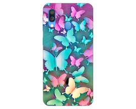 Husa Silicon Soft Upzz Print Samsung Galaxy A20e Model Colorfull Butterflyes