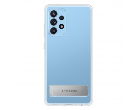 Husa Originala Samsung Compatibila Cu Samsung Galaxy A52 / A52 5G, Transparenta Cu Stand Metalic Pe Spate