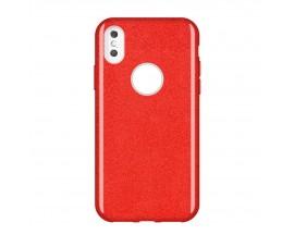 Husa Spate Wozinsky Glitter Compatibila Cu Huawei P30 Lite, Rosu
