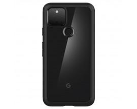 Husa Premium Spigen Ultra Hybrid Compatibila Cu Google Pixel 5, Transparenta Cu Margini Negre
