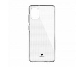 Husa Spate Mercury Jelly Case Samsung Galaxy A41, Transparenta, Anti Alunecare