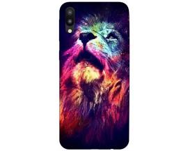 Husa Silicon Soft Upzz Print Compatibila Cu Samsung Galaxy M10 Model Neon Lion