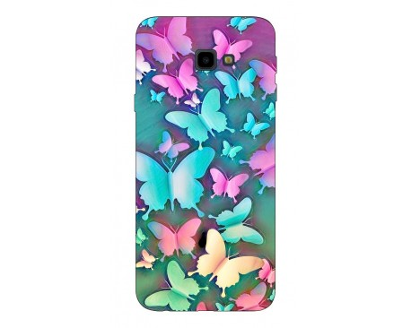 Husa Silicon Soft Upzz Print Compatibila Cu Samsung Galaxy J4+2018 Model Colorfull Butterflies