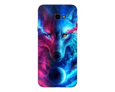 Husa Silicon Soft Upzz Print Compatibila Cu Samsung Galaxy J4+2018 Model Wolf