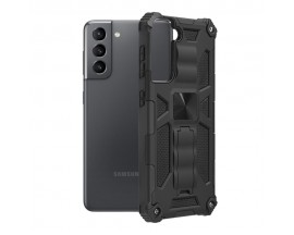 Husa Spate Upzz Tech Blazor Compatibila Cu Samsung Galaxy S21, Negru
