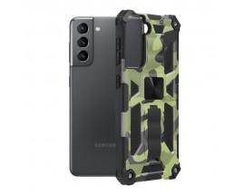 Husa Spate Upzz Tech Blazor Compatibila Cu Samsung Galaxy S21+ Plus 5G, Camo