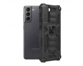 Husa Spate Upzz Tech Blazor Compatibila Cu Samsung Galaxy S21+ Plus 5G, Negru