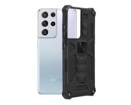 Husa Spate Upzz Tech Blazor Compatibila Cu Samsung Galaxy S21 Ultra 5G, Negru