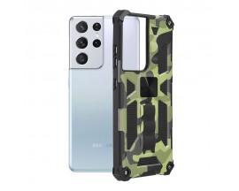 Husa Spate Upzz Tech Blazor Compatibila Cu Samsung Galaxy S21 Ultra 5G, Camo