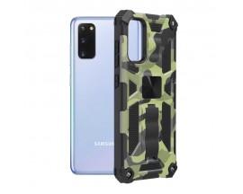 Husa Spate Upzz Tech Blazor Compatibila Cu Samsung Galaxy S20, Camo
