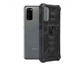 Husa Spate Upzz Tech Blazor Compatibila Cu Samsung Galaxy S20+ Plus, Negru