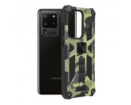 Husa Spate Upzz Tech Blazor Compatibila Cu Samsung Galaxy S20 Ultra, Camo