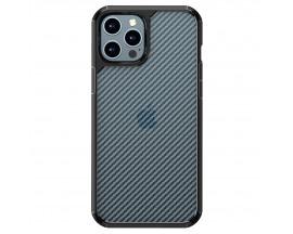 Husa Spate Upzz TechSuit Carbon Fuse Compatibila Cu iPhone 12 Pro Max, Negru