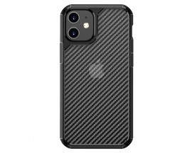 Husa Spate Upzz TechSuit Carbon Fuse Compatibila Cu iPhone 12 Mini, Negru