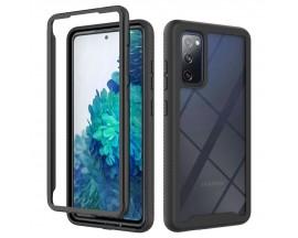 Husa Upzz TechSuit Defense 360 Compatibila Cu Samsung Galaxy S20 Fe, Folie Protectie Inclusa, Negru