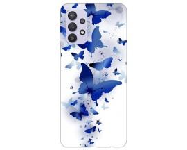 Husa Silicon Soft Upzz Print Compatibila Cu Samsung Galaxy A32 4g Model Blue Butterflies