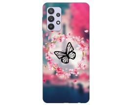 Husa Silicon Soft Upzz Print Compatibila Cu Samsung Galaxy A32 4g Model Butterfly