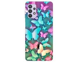 Husa Silicon Soft Upzz Print Compatibila Cu Samsung Galaxy A32 4g Model Colorfull Butterflies