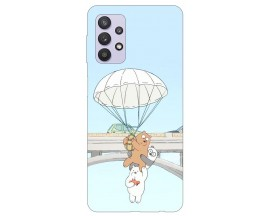 Husa Silicon Soft Upzz Print Compatibila Cu Samsung Galaxy A32 4g Model Three Bears