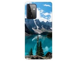 Husa Silicon Soft Upzz Print Compatibila Cu Samsung Galaxy A72 Model Blue