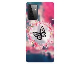 Husa Silicon Soft Upzz Print Compatibila Cu Samsung Galaxy A72 Model Butterfly