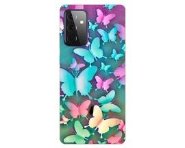Husa Silicon Soft Upzz Print Compatibila Cu Samsung Galaxy A72 Model Colorfull Butetrflies