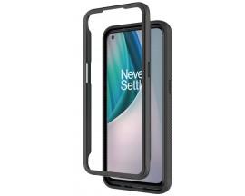 Husa Upzz TechSuit Defense 360 Compatibila Cu OnePlus Nord N100, Folie Protectie Inclusa, Negru