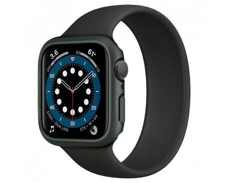 Husa Protectie Ceas Spigen Thin Fit Compatibila Cu Apple Watch 4 / 5 / 6 / Se ( 44mm ), Negru