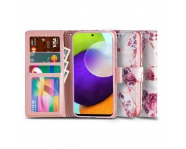 Husa Flip Carte Upzz Tech Wallet Compatibila Cu Samsung Galaxy A52 / A52 5G, Floral Rose