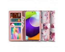 Husa Flip Carte Upzz Tech Wallet Compatibila Cu Samsung Galaxy A72 / A72 5G, Floral Rose