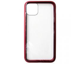 Husa Premium Upzz Magneto Glass 360 Grade Pentru Iphone 11, Rama Metalica, Rosu