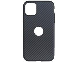 Husa Slim Upzz Carbon Fiber Compatibila Cu Iphone 11, Negru