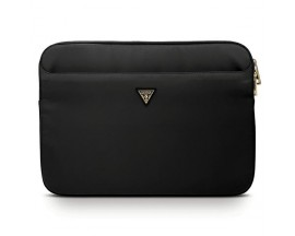 Husa  Premium Originala Guess Sleeve  Laptop / Macbook 13 Inch Negru, Nylon Triangle Logo - GUCS13NTMLBK