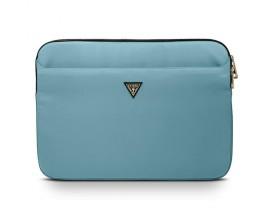 Husa  Premium Originala Guess Sleeve  Laptop / Macbook 13 Inch Albastru, Nylon Triangle Logo - GUCS13NTMLLB