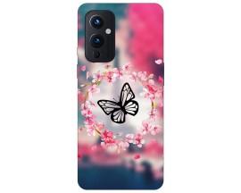 Husa Silicon Soft Upzz Print Compatibila Cu OnePlus 9 Model Butterfly