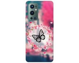 Husa Silicon Soft Upzz Print Compatibila Cu OnePlus 9 Pro Model Butterfly