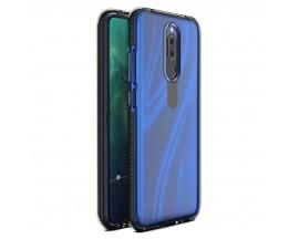 Husa Antishock Upzz Spring Compatibila Cu Huawei Mate 20 Lite, Transparenta Cu Margine Neagra