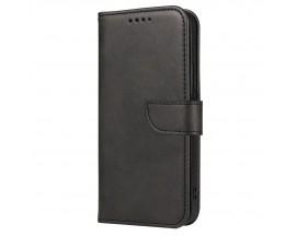 Husa Flip Cover Magnet Case Elegant Compatibila Cu Huawei P20 Lite, Piele Ecologica, Negru