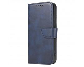 Husa Flip Cover Magnet Case Elegant Compatibila Cu Huawei P20 Lite, Piele Ecologica, Albastru