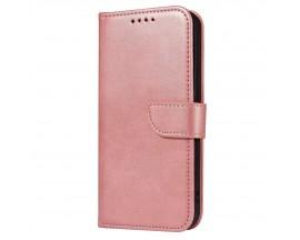 Husa Flip Cover Magnet Case Elegant Compatibila Cu Huawei P20 Lite, Piele Ecologica, Roz