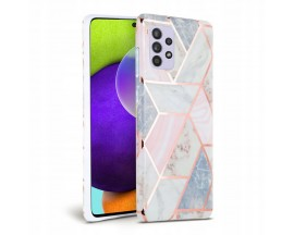 Husa Spate Tech-protect Marble Silicone Samsung Galaxy A72 Roz