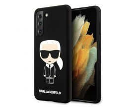 Husa Premium Originala Karl Lagerfeld Compatibila Cu Samsung Galaxy S21+ Plus, Silicon Iconic - KLHCS21MSLFKBK