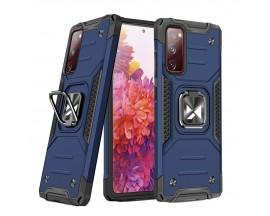 Husa Premium Ring Armor Wozinsky Pentru Samsung Galaxy S20 Fe, Antishock Cu Ring Metalic Pe Spate - Albastru
