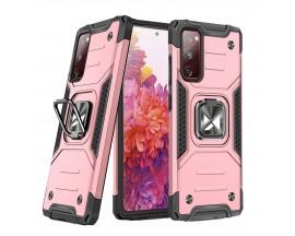 Husa Premium Ring Armor Wozinsky Pentru Samsung Galaxy S20 Fe, Antishock Cu Ring Metalic Pe Spate - Roz