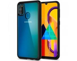 Husa Premium Spigen Ultra Hybrid Compatibila Cu Samsung Galaxy M21, Transparenta Cu Margini Negre
