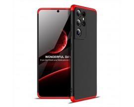 Husa Upzz Protection Compatibila Cu Samsung Galaxy S21 Ultra, Negru - Rosu